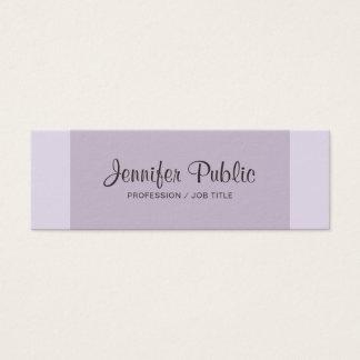 Professional Modern Elegant Violet Plain Mini Business Card