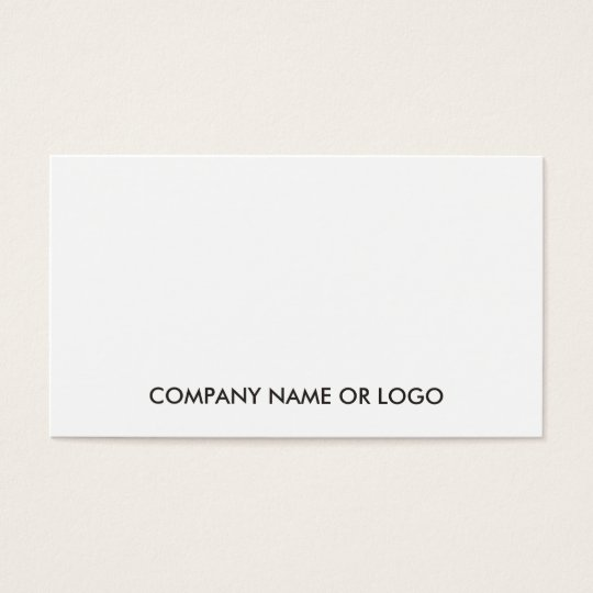 Professional Modern Elegant White Simple Company Business Card