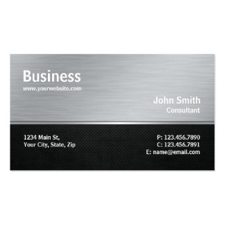 Professional Modern Metal Silver Computer Repair Pack Of Standard Business Cards
