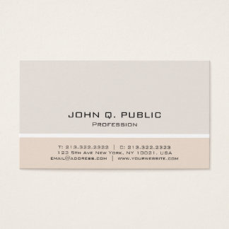 Professional Modern Minimalist Harmonic Colors Business Card