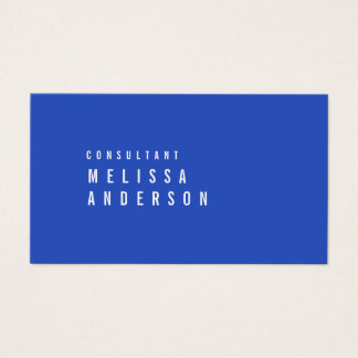 Professional Modern Minimalistic Cerulean Blue Business Card