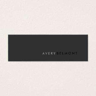 Professional Modern Simple Black Minimalist Mini Business Card