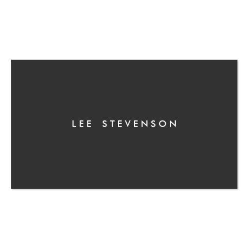Professional Modern Simple Black Minimalist Plain Business Cards
