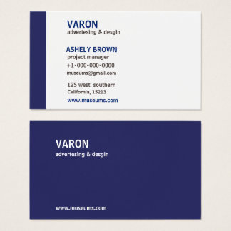Professional Modern Simple Blue Business Card