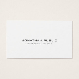 Professional Modern Sleek Plain Sophisticated Business Card