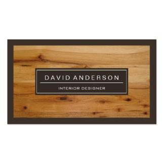 Professional Modern Wood Grain Look Pack Of Standard Business Cards