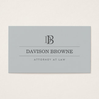 Professional Monogram Attorney, Lawyer Slate Business Card