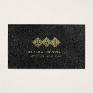 Professional Monogram Elegant Lawyer Law Firm Business Card