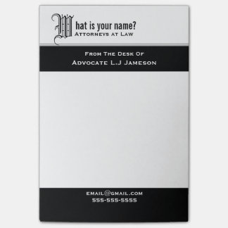 Professional monogrammed legal business | Custom Post-it Notes