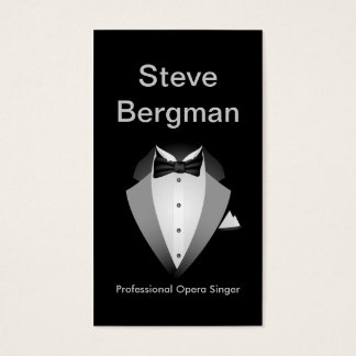 Professional Opera Singer Suit Man Theatre Concert Business Card