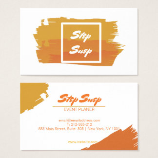 Professional Orange Event Planer Business Card