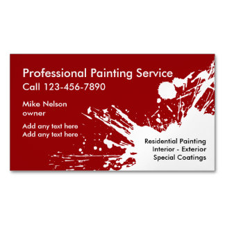 Professional Painter Business Card Magnets