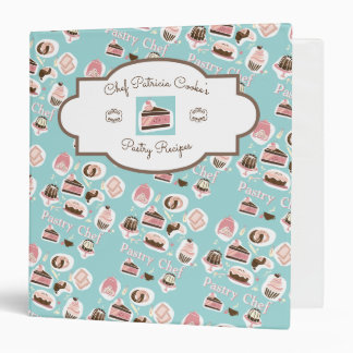 Professional Pastry Chef Aqua Recipe Binder