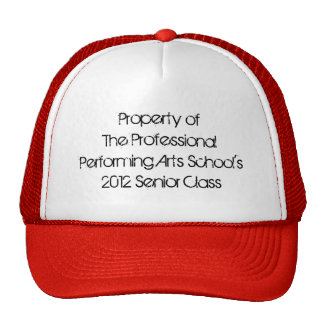 Professional Performing Arts School - 2012 Senior Trucker Hats