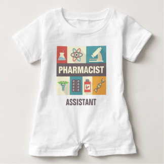 Professional Pharmacist Iconic Designed Baby Romper