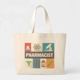Professional Pharmacist Iconic Designed Large Tote Bag