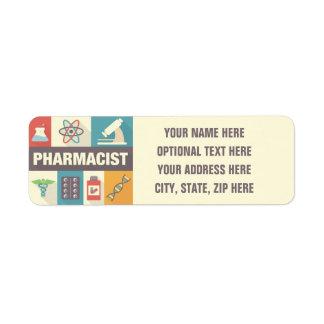 Professional Pharmacist Iconic Designed Return Address Label