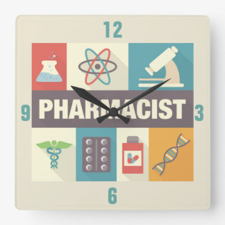 Professional Pharmacist Iconic Designed Wall Clocks