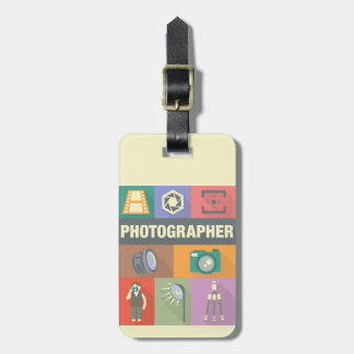 Professional Photographer Iconic Designed Luggage Tag