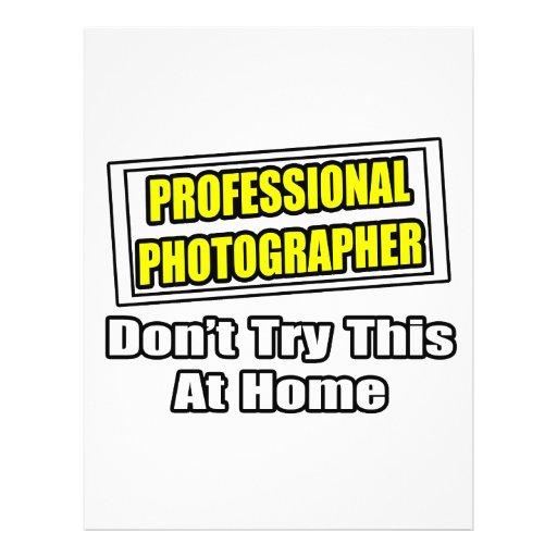 Professional Photographer...Joke Full Color Flyer
