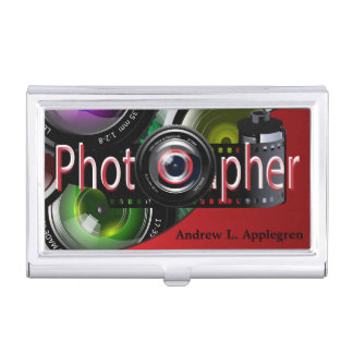 Professional Photographer | Red Business Card Case