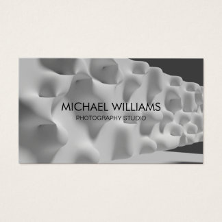 Professional Photographer White Graphical Designer Business Card