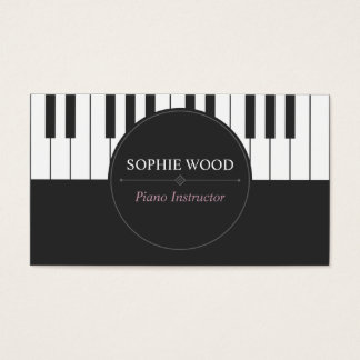 Professional Piano Instructor Business Card