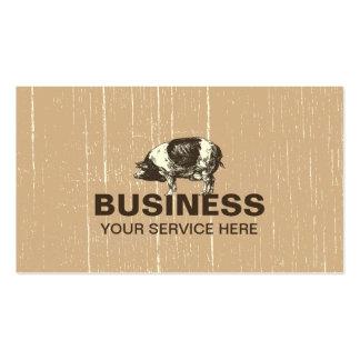 Professional Pig Farm Business Card