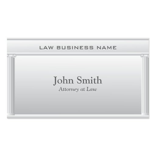Professional Pillars Lawyer/Attorney Business Card