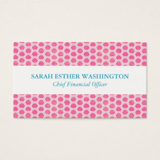 Professional Pink Rainbow Design Business Card