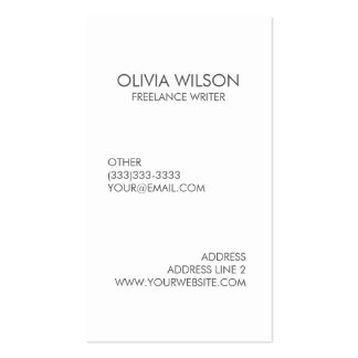 Professional Plain Clean Grey and White Business Card