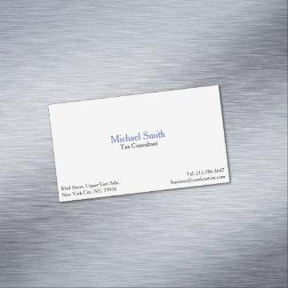 Professional Plain Elegant Modern Magnetic Card