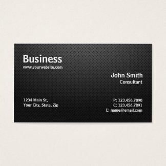Professional Plain Modern Computer Repair Black Business Card