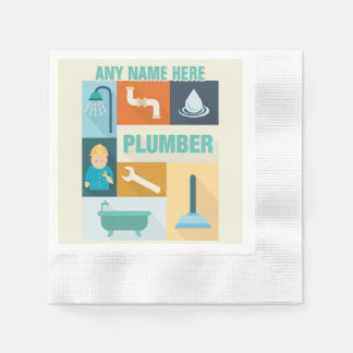 Professional Plumber Iconic Designed Paper Napkins