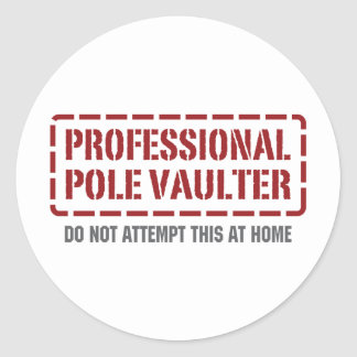 Professional Pole Vaulter Classic Round Sticker