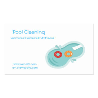 Professional pool cleaning business card