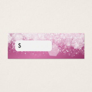 Professional Price Tag Sparkling Night Pink Mini Business Card