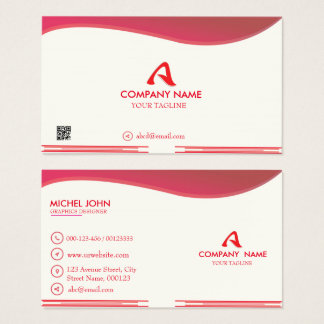 Professional  Red-Corporate  Logo Business card. Business Card