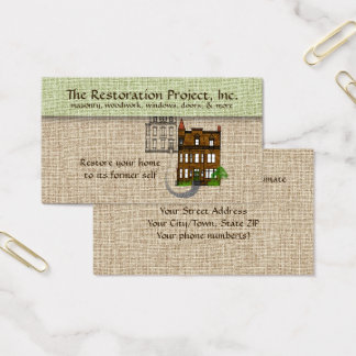 Professional Restoration, Preservation, Masonry Business Card