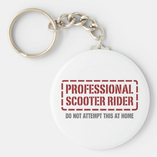 Professional Scooter Rider Keychain