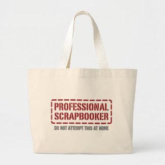 Professional Scrapbooker Large Tote Bag