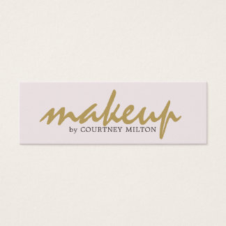 Professional Simple Elegant Makeup Artist Mini Business Card