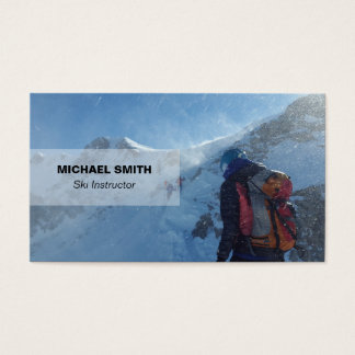 Professional ski instructor Business Card