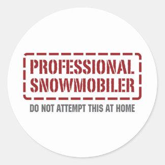 Professional Snowmobiler Classic Round Sticker