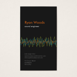 Professional Sound Engineer Business Card