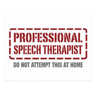 Professional Speech Therapist Postcard