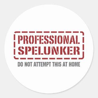 Professional Spelunker Round Sticker