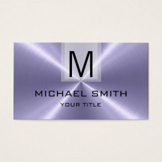 Professional Stainless Steel Metal Monogram #16 Business Card