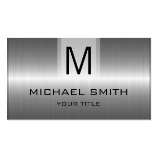 Professional Stainless Steel Metal Monogram Pack Of Standard Business Cards