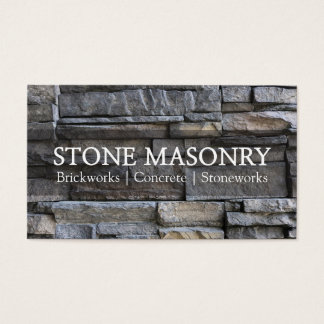 Professional Stone Masonry Business Card Design